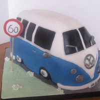 Vw Campervan this was my first attempt at a campervan cake!