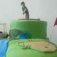 Golf Cake This cake was made for a memorial golf tournament. It was a Prairie HIlls Golf course and it was in memory of a little boy named Alex.