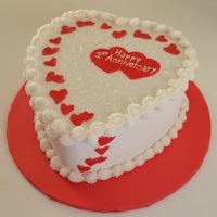 "Happy Anniversary /valentines 8"" Red Velvet with cream cheese filling"