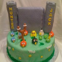 Angry Birds Cake Contest Created for two brothers who absolutely LOVE playing Angry Birds!!