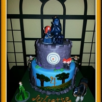 Disney Brave Cake   All MMF & Handpainted. Plastic toys. :)