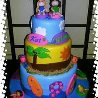 Beach Luau Birthday Cake   Beach Luau birthday cake. All mmf.