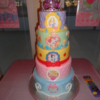 For My Daughters Birthday Party She Saw A Similar One Online She Wanted So I Got To Work This Is My First 5 Tiered Cake She Loved It  For my daughters birthday party. She saw a similar one online she wanted, so I got to work. This is my first 5 tiered cake. She loved it...