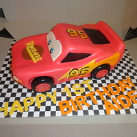 Lightning Mcqueen Cake Marble Cake With Raspberry Filling Covered And Decorated In Mmf   Lightning mcqueen cake. Marble cake with raspberry filling covered and decorated in mmf.
