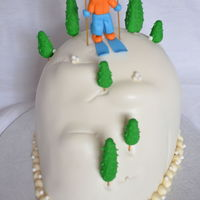 Skiing Cake Everything Edible Skiing cake. Everything edible.