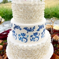 Vintage China Inspired This cake was made for a photoshoot. The inspiration board had vintage blue and white china in a few of the inspiration pictures. I hand...