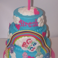 Care Bears For Breah  LOVE this cake! It takes me back to my childhood! All buttercream with fondant images Come check us out on Facebook Heavenly Sweets and...