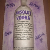 Absolut Vodka Bottle   Absolute bottle.The theme was silver and purple.