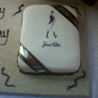 Jonnie Walker Sponge Cake, filled with simple butter cream covered with fondant royal icing trimmings edible print!!!!!!!!