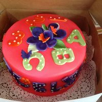 Chocolate Cake Covered In Fondant And Airbrushed Chocolate cake, covered in fondant and airbrushed...