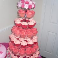 Weding Cupcakes my first wedding cake complete