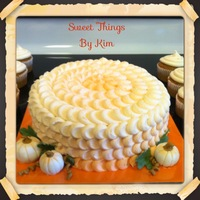 Pumpkin   This is a vanilla cake with Butter creamCupcakes to match are pumpkin spice with cream cheese frosting
