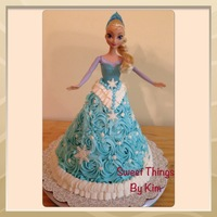 Frozen Elsa Cake Vanilla and BC