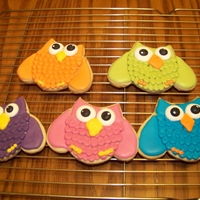 Owl Cookies   Idea came from a blog online, the Bearfoot Baker