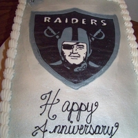Raiders Cake   Raiders cake for an anniversary- based off the design by another CC Member, Ivy419