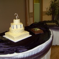 Sage & Plum Wedding Cake