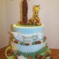 Safari Baby Shower   Safari Baby Shower cake- a big thank you to EnglishCakeLady for allowing me to attempt to re-create her beautiful design!