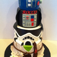 4567 Inch Rounds R2D2 And Darth Covered In Fondant Light Saber And Fondant Accents Variation Of A Previous Design Ive Done   4,5,6,7 inch rounds R2d2 and Darth covered in fondant Light saber and fondant accents Variation of a previous design I've done