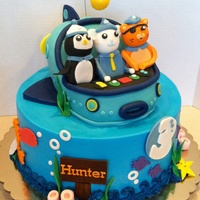 Octonaut Cake Octonauts cake 10 inch cake fondant accents Gup is rkt covered in chocolate then fondantAll handmade figures