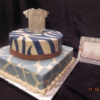 Baby Shower Baby Shower cake....next to the cake is the shower invitation