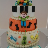 Music Loving Cake This was my first Icing Smiles cake for a little boy who loved music.