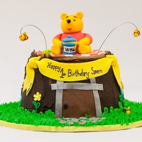 Winnie The Pooh On Stump I saw this photo when i searched for ideas for a Winnie the Pooh cake and i loved it so i decided to make it and added my own take on...