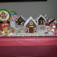 This Village Was Made With Vanilla Crackers The Church Logo Is A Lollipop Covered In Gumpaste Hand Painted With Edible Markers   This village was made with Vanilla Crackers. The Church Logo is a Lollipop covered in gumpaste hand painted with edible markers.