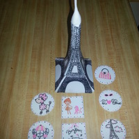 Eiffel Tower And France Themes For More Information Visit My Facebook Page At Httpswwwfacebookcompagesmis Creaciones En Azucarmy Su  Eiffel Tower and France themes. For more information visit my FaceBook page at: https://www.facebook.com/pages/Mis-creaciones-en-azucarMy-...