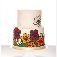 Fall Buttercream Wedding Cake this is actually my 1st buttercream (!!) wedding cake. really wonder why brides always prefer fondant. it's a vanilla cake with...