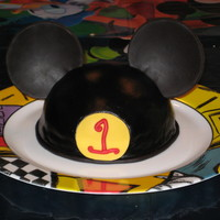 Mickey Ears   For my nephews first birthday.