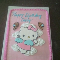 Hello Kitty Angel All buttercream with Colorflow Hello Kitty and Bears