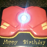 Iron Man Chest Plate With Light On Iron Man Chest Plate with Light on