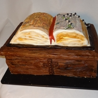 Book Of Kells Book of kells cake for 40th birthday, irish wake theme. Got lots of ideas from here. The cake is irish cream cake with chocloate mousse...