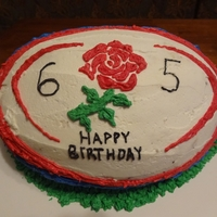 Rugby Cake Carved Rugby ball cake for 65 year old birthday