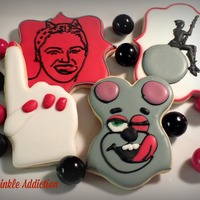 Miley Cyrus Decorated sugar cookies
