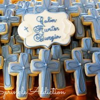 Cross Cookies For A Young Boys Holy Communion Cross Cookies for a young boy's Holy Communion