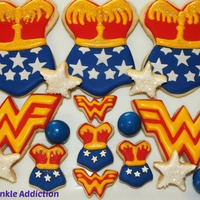 Wonder Woman Inspired Cookies Decorated Sugar Cookies