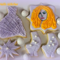 Lady Gaga Decorated Sugar Cookies