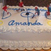 Marble Hockey Cake With Buttercream