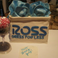 Ross Shopping/gift Bag Ross gift bag with wine glass and cupcake, fondant napkin