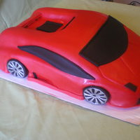 Lamborghini Gallardo My first car cake, I was so nervous, but did the best I could. Thanks for looking!