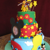 Mickey Mouse Club House Cake   All WASC cakes with butter cream. Covered in fondant with fondant accents