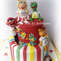 Muppets Support Autism Awareness or at least I hope they would. Cake made for my autism support groups first birthday.