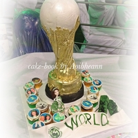 Trophy Cake   cake replicated to look like the trophy won by the World u-13 Irish dancing champion.