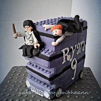 Harry Potter Lego! Harry and Ronald riding the knight bus lego style