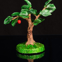 "Wafer Paper Apple Tree Height: 10""Weight: 2ozWafer paper over aluminum armature."