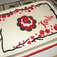 Kenlies Lady Bug 1st Birthday Lady Bug cake. Vanilla with Vanilla buttercream, fondant accents
