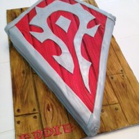 World Of Warcraft Horde Insignia Cake Done For A Friends Birthday World of Warcraft Horde Insignia cake done for a friends birthday.