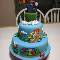 Super Mario Super Caleb! Birthday cake for a sweet young man.