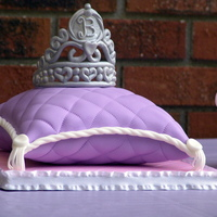 Pillow Cake With Tiara  I made this cake for my daughter's 2nd birthday. I also made an identical one for my niece. It's a homemade yellow cake with...